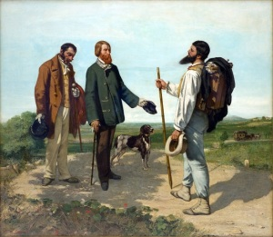 Bounjour, Monsieur Courbet by Gustave Courbet